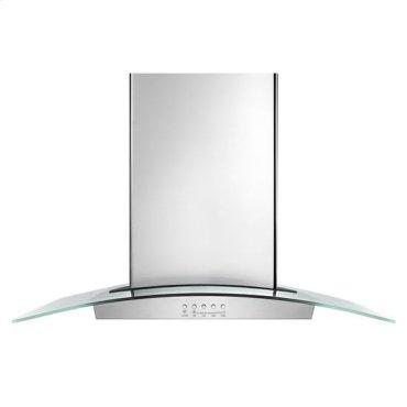 "36"" Modern Glass Island Mount Range Hood - stainless steel"