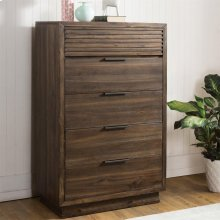 Modern Gatherings Two - Five Drawer Chest - Brushed Acacia Finish