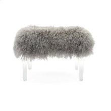Brietta Tibetan Fur and Acrylic Bench