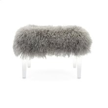 Brietta Tibetan Fur and Acrylic Bench