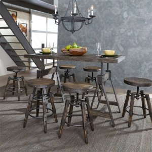 Liberty Furniture Industries 7 Piece Adjustable Table Set