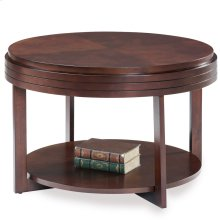 Chocolate Cherry Round Condo/Apartment Coffee Table #10108-CH