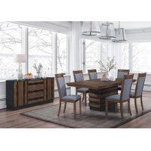 Octavia Rustic Seven-piece Dining Set