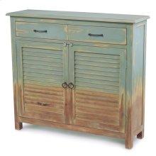 Faded 2 Door, 2 Drawer Cabinet