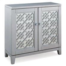 Mirrored Diamond Filigree Hallstand/Entryway Table with Adjustable Shelf #10083-SV