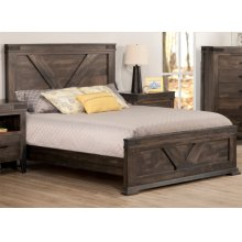 Chattanooga King Bed with 22'' Low Footboard