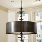 Turned Pendant Chandelier-Antique Bronze-Sm Product Image