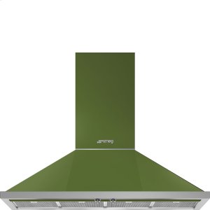 """Smeg48"""" Portofino Chimney Hood, Olive green"""