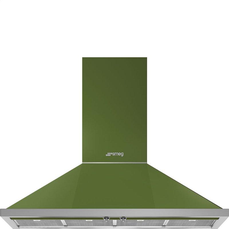 """48"""" Portofino Chimney Hood, Olive green"""