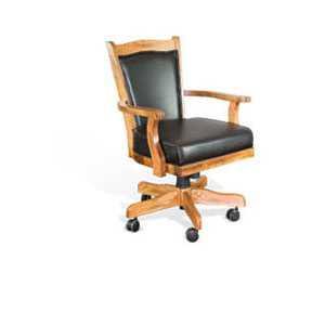 Sedona Game Chair W/ Casters, Cushion Seat U0026 Back