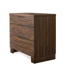Modern Gatherings Bachelor Chest Brushed Acacia finish