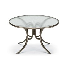 """Glass Top Table 48"""" Round Dining Table w/ hole"""