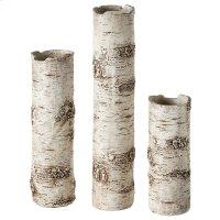 Birch Finish Branch Vase set/3. Product Image