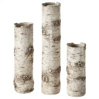 Birch Finish Branch Vase set/3. Product Image