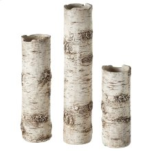 Birch Finish Branch Vase set/3.