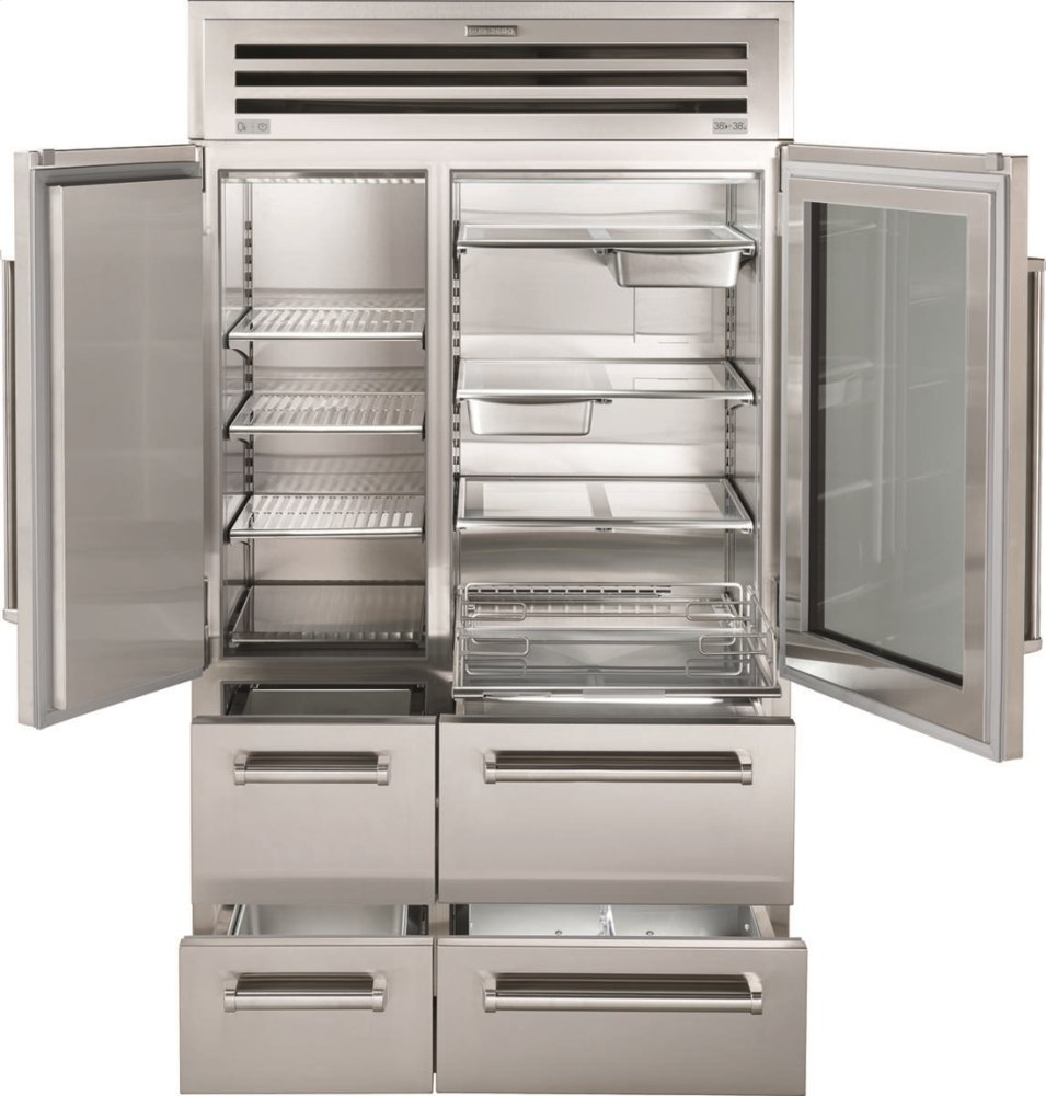 "Sub Zero Glass Door Refrigerator pro4850gsub-zero 48"" pro refrigerator/freezer with glass"