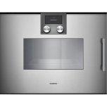 """200 series 200 series Combi-steam oven Full glass door in  Metallic Width 24"""" (60 cm) Left-hinged Controls on top"""