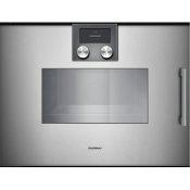 200 Series Combi-steam Oven 24'' Gaggenau Metallic, Door Hinge: Left, Door Hinge: Left