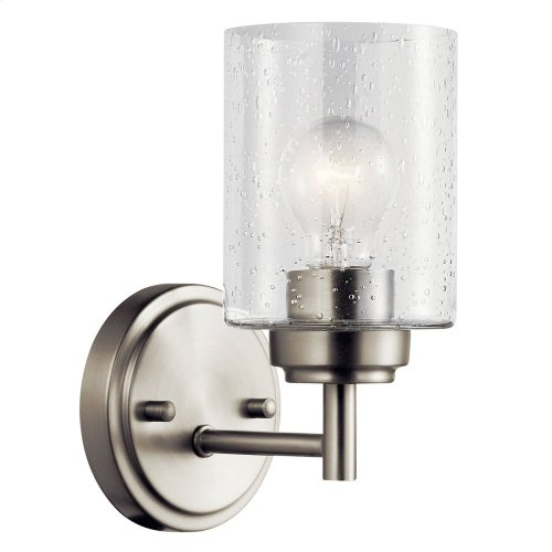 Winslow 1 Light Wall Sconce Brushed Nickel