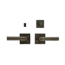 "Flute Privacy Set - 3"" x 3"" Silicon Bronze Brushed"