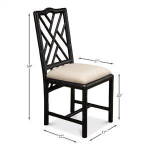 Sarreid LtdBrighton Bamboo Side Chair,Black