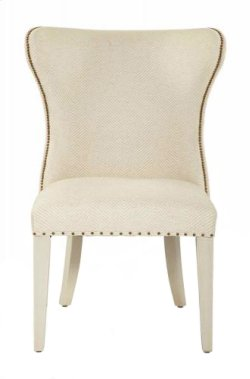 Salon Upholstered Wing Dining Chair in Salon Alabaster (341)