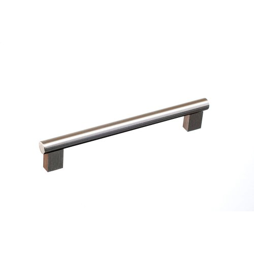 """8"""" center to center Rectangular Post Bar Pull - Nickel Stainless"""