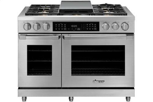 "48"" Heritage Dual Fuel Pro Range, Silver Stainless Steel, Liquid Propane/High Altitude"