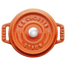 Staub Cast Iron 4-inch round Mini Cocotte, Burnt Orange