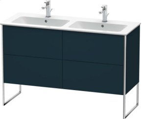 Vanity Unit Floorstanding, Night Blue Satin Matt Lacquer