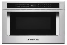 """24"""" Under-Counter Microwave Oven Drawer - Stainless Steel"""