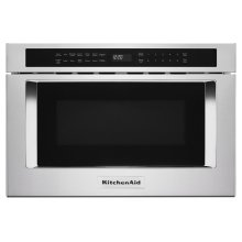 "24"" Under-Counter Microwave Oven Drawer - Stainless Steel"