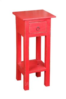 CC-TAB1792LD-AR  Cottage Narrow Side Table  Distressed  Antique Red