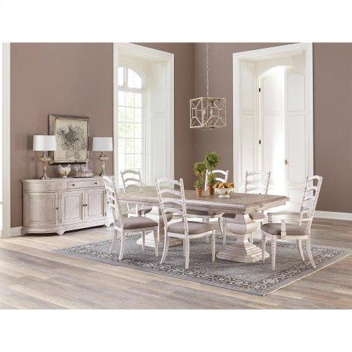 Elizabeth - Rectangular Dining Table Base - Antique Oak Finish