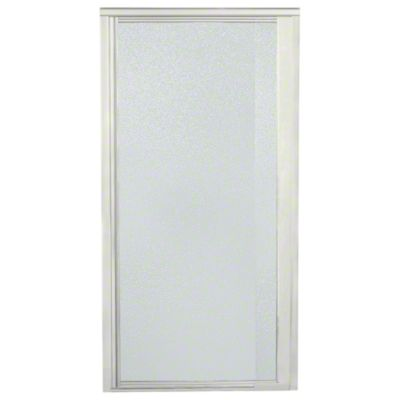 "Vista Pivot™ II Shower Door - Height 65-1/2"", Max. Opening 27-1/2"" - Nickel with Pebbled Glass Texture"