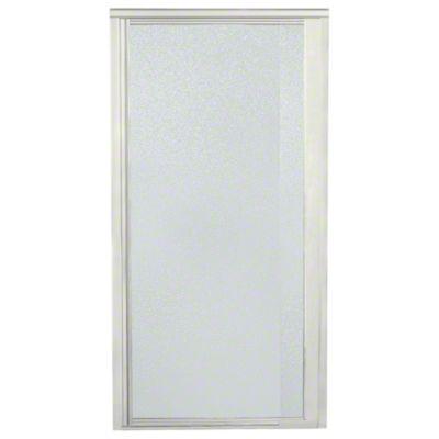 """Vista Pivot™ II Shower Door - Height 65-1/2"""", Max. Opening 27-1/2"""" - Nickel with Pebbled Glass Texture"""