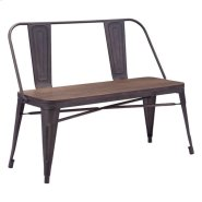 Elio Double Bench Rustic Wood Product Image