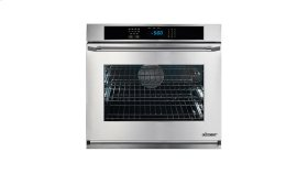 """Renaissance 30"""" Single Wall Oven in Black Glass - ships with stainless steel Pro Style handle."""