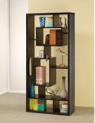 - Ten shelf bookcase finished in black- Constructed with MDF, particle board, and engineered veneer- Also available in white (#802262) Product Image