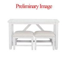 Farmouse Sofa Table & Stools