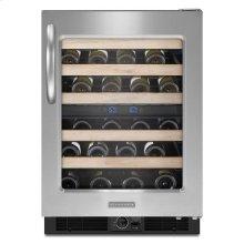 Stainless Steel KitchenAid® 24'' Wine Cellar, Right-Hand Door Swing, Architect® Series II