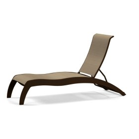 Dune MGP Sling Stacking Armless Chaise w/ Wheels