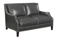 Loveseat-charcoal Leather