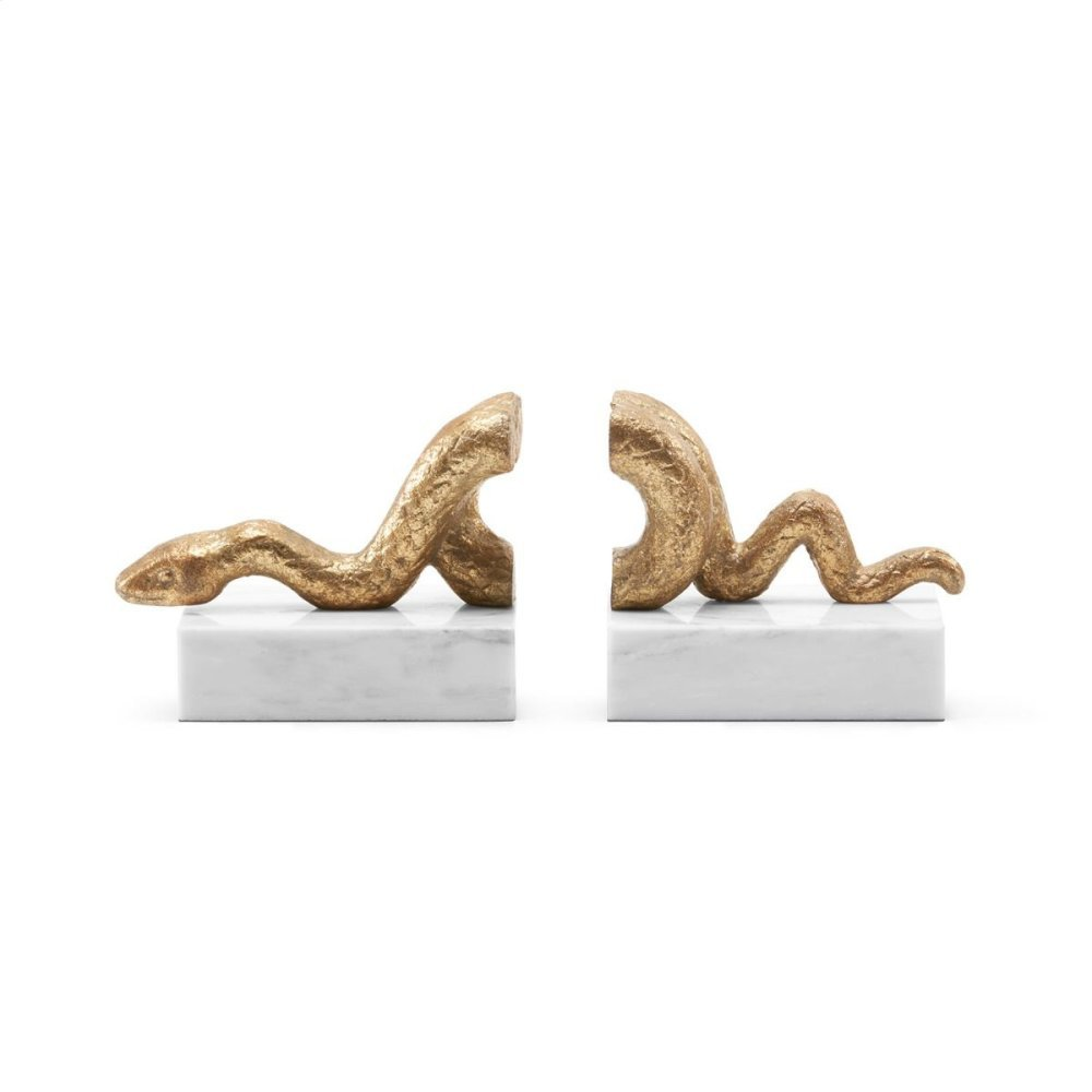 Asp Bookends, Gold