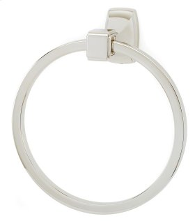 Cube Towel Ring A6540 - Polished Nickel