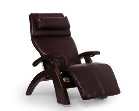 Perfect Chair PC-610 - Burgundy Premium Leather - Dark Walnut