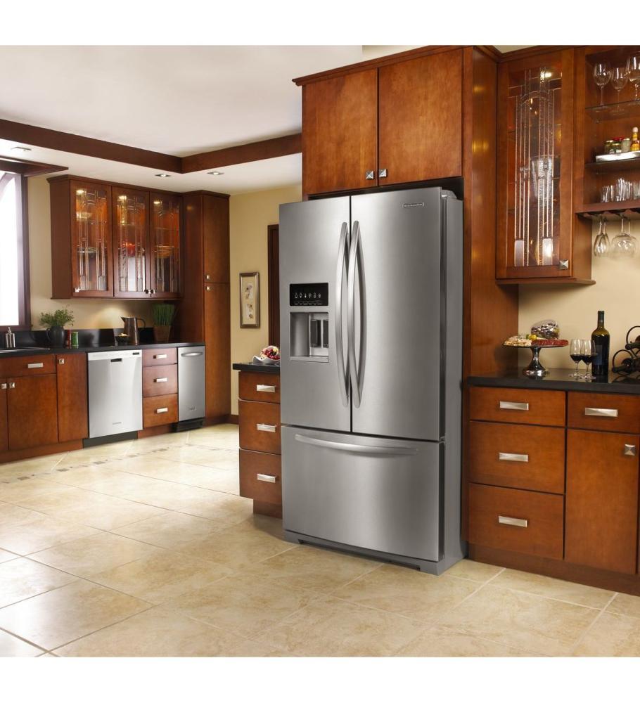 Ft. Platinum Interior, Standard Depth French Door Refrigerator,