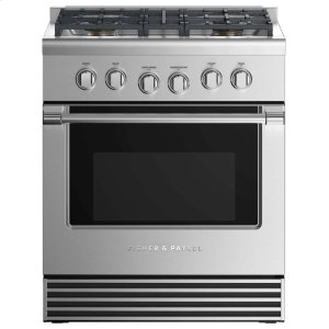 "Fisher & PaykelGas Range 30"", 4 Burners"