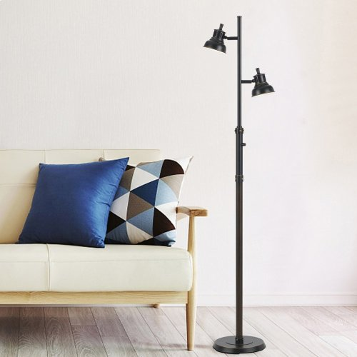7W X 2 LED Metal Floor Lamp