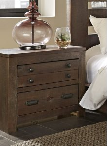 Nightstand - Distressed Dark Pine Finish